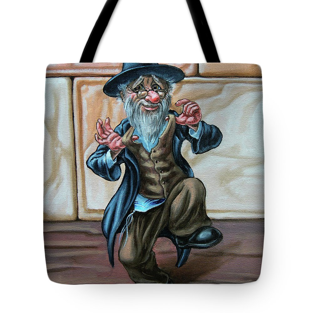 Dance Tote Bag featuring the painting Freilahs. Op#2605 by Victor Molev