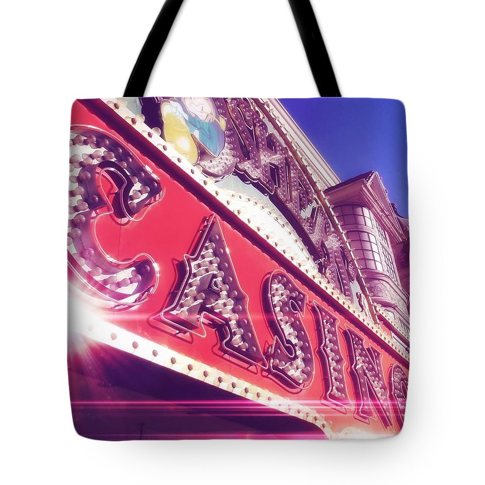 Vegas Tote Bag featuring the photograph Fremont By Day by JAMART Photography
