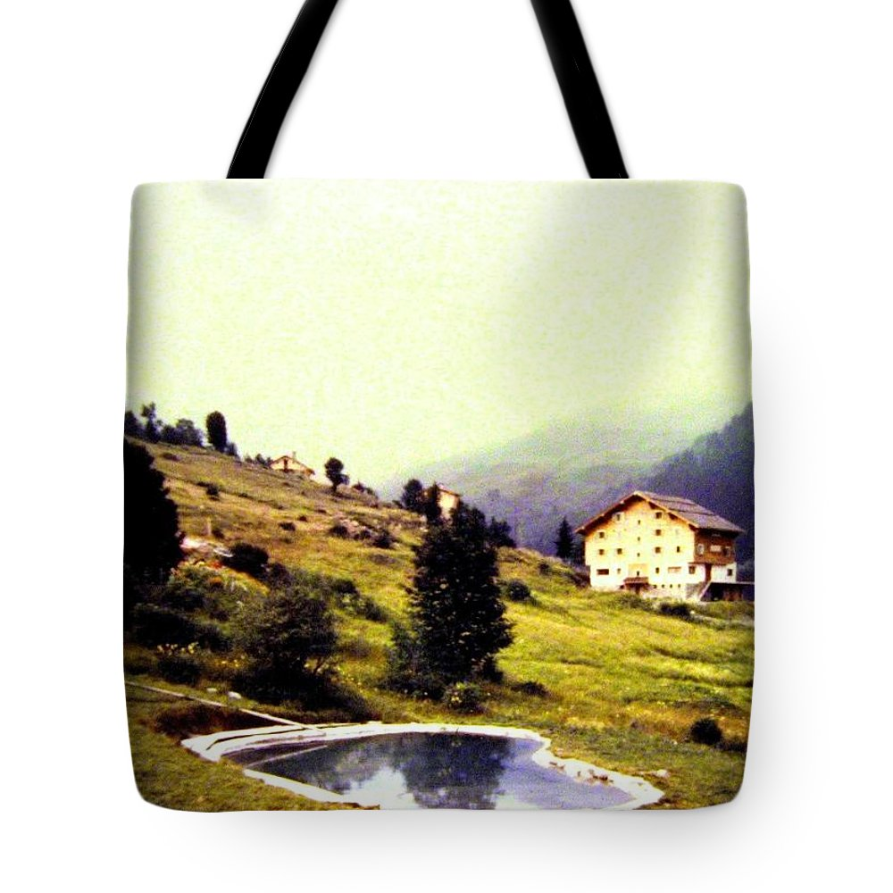1955 Tote Bag featuring the photograph French Alps 1955 by Will Borden