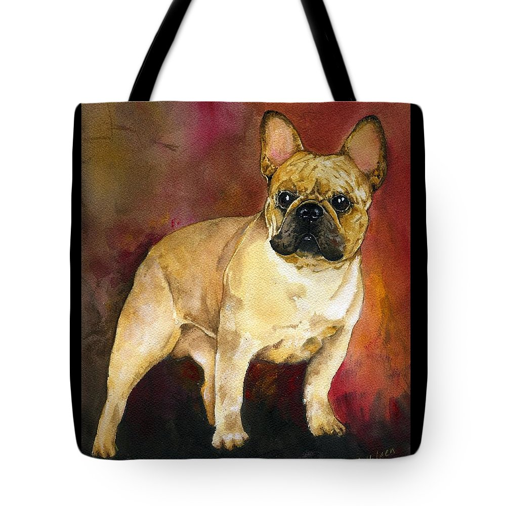 French Bulldog Tote Bag featuring the painting French Bulldog by Kathleen Sepulveda
