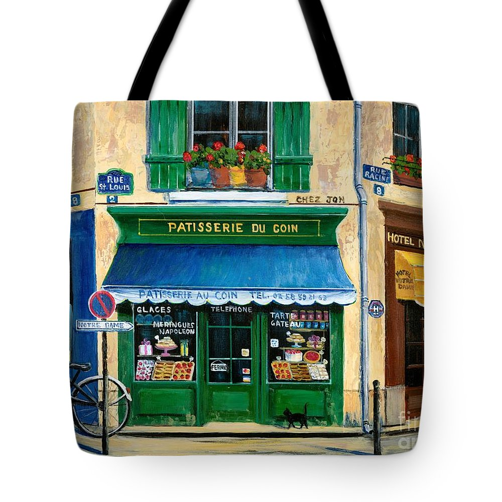 Paris Tote Bag featuring the painting French Pastry Shop by Marilyn Dunlap