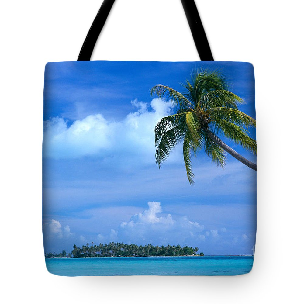 Blue Tote Bag featuring the photograph French Polynesia, Bora Bo by Himani - Printscapes