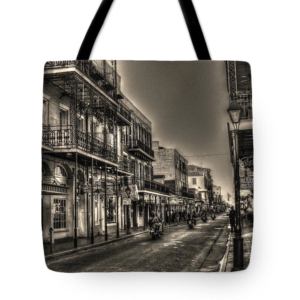 French Quarter Tote Bag featuring the photograph French Quarter Ride by Greg and Chrystal Mimbs