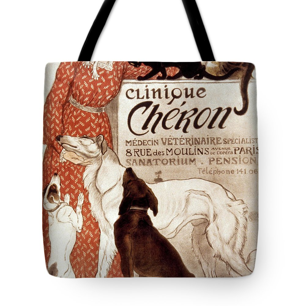 1894 Tote Bag featuring the photograph French Veterinary Clinic by Granger