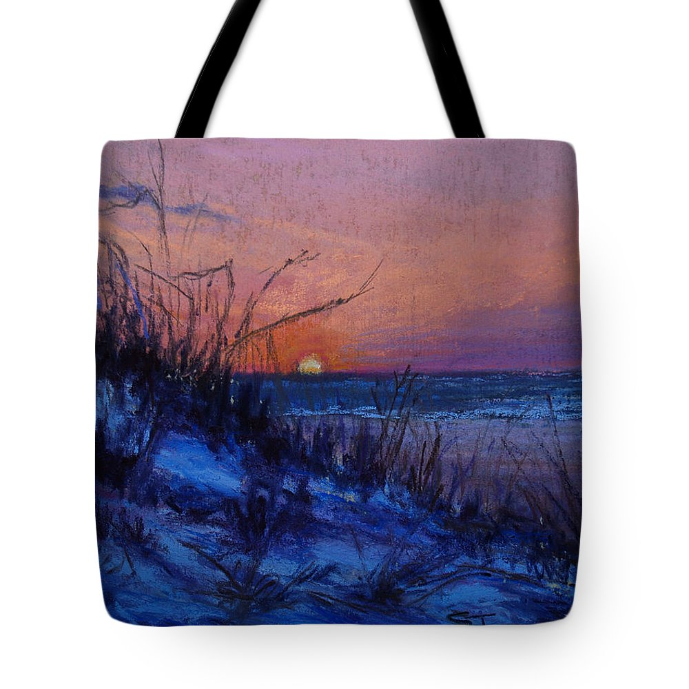 Landscape Tote Bag featuring the pastel Frenchy's Sunset by Susan Jenkins