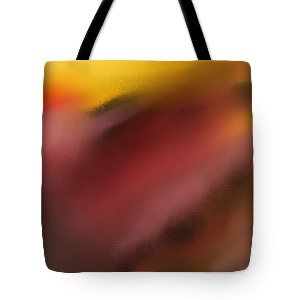 Digital Painting Tote Bag featuring the digital art Frenetic Landscape by David Lane