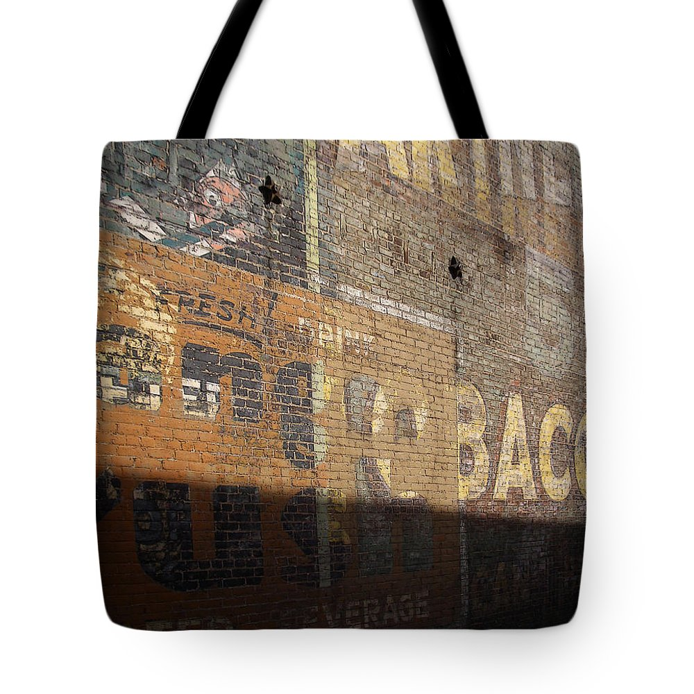 Bricks Tote Bag featuring the photograph Fresh Crush Tobacco by Tim Nyberg