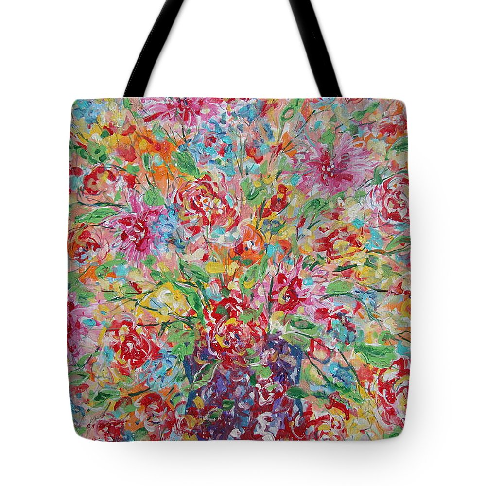 Painting Tote Bag featuring the painting Fresh Flowers. by Leonard Holland