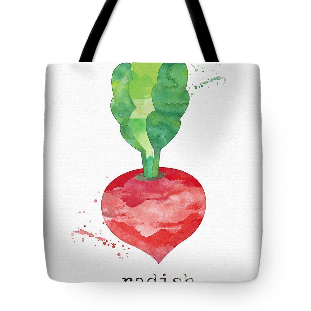 Radish Tote Bag featuring the painting Fresh Radish by Linda Woods