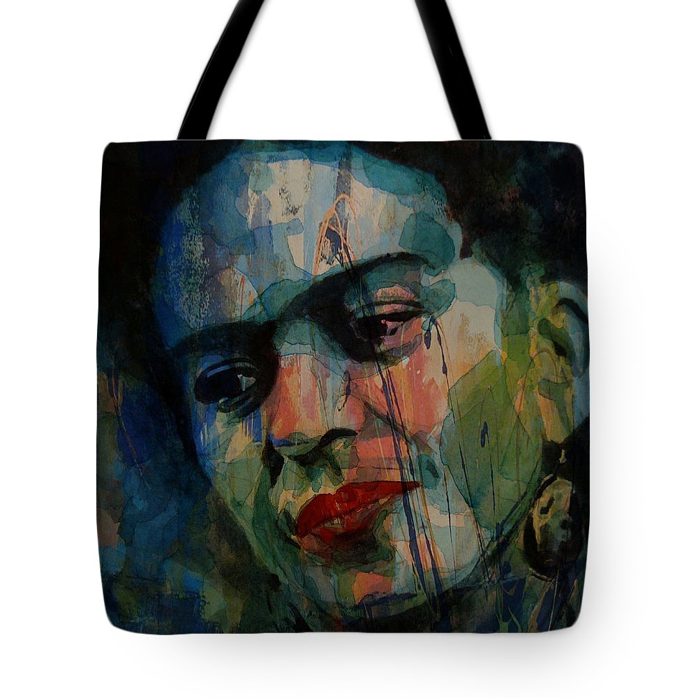 Frida Kahlo Tote Bag featuring the painting Frida Kahlo Colourful Icon by Paul Lovering
