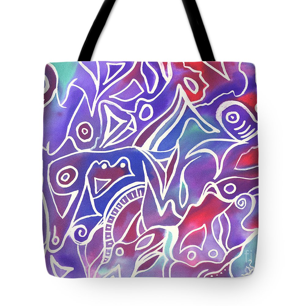 Maze Tote Bag featuring the painting Friendly Maze by Carolyn Weir