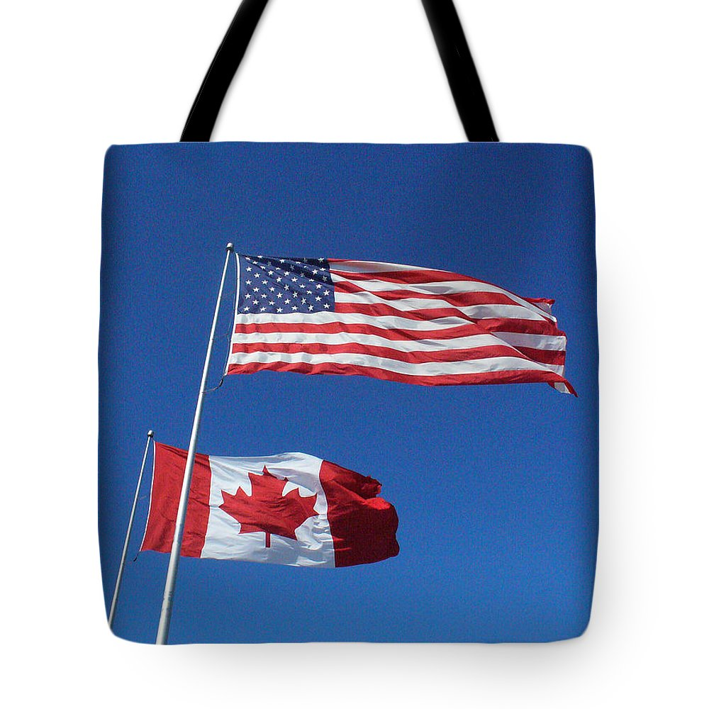 Flags Tote Bag featuring the photograph Friends by Peggy King