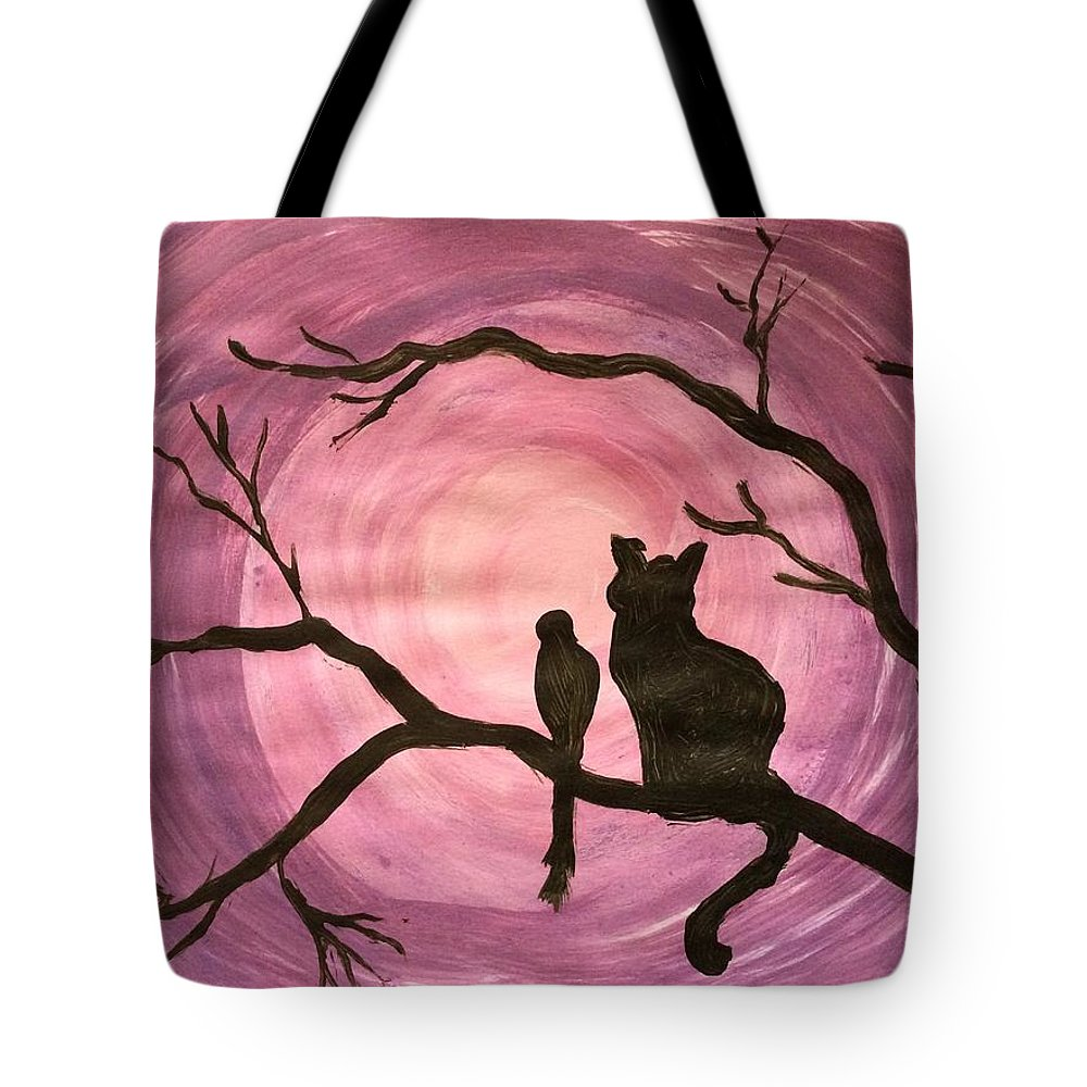 Landscape Tote Bag featuring the painting Friends by Suma George