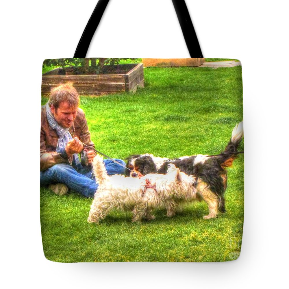Friends Tote Bag featuring the pyrography Friends by Yury Bashkin