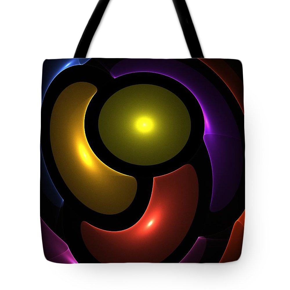 Colorful Tote Bag featuring the digital art Friendship by Steve K
