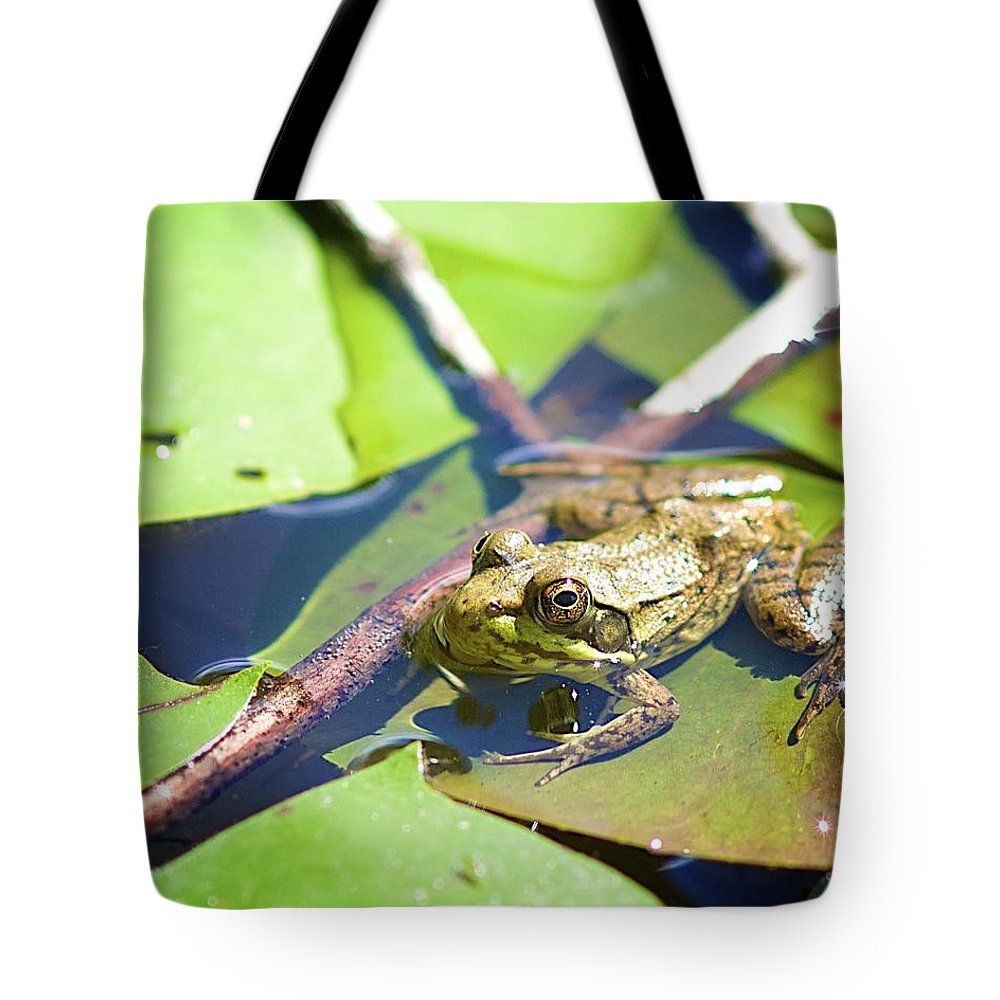Frog Tote Bag featuring the photograph Frog 3 by Robert Skuja