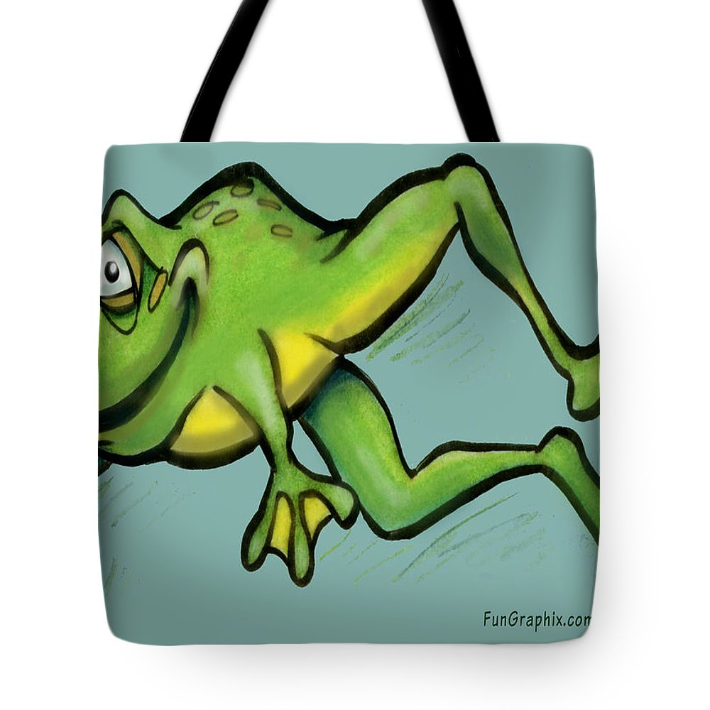 Frog Tote Bag featuring the greeting card Frog by Kevin Middleton