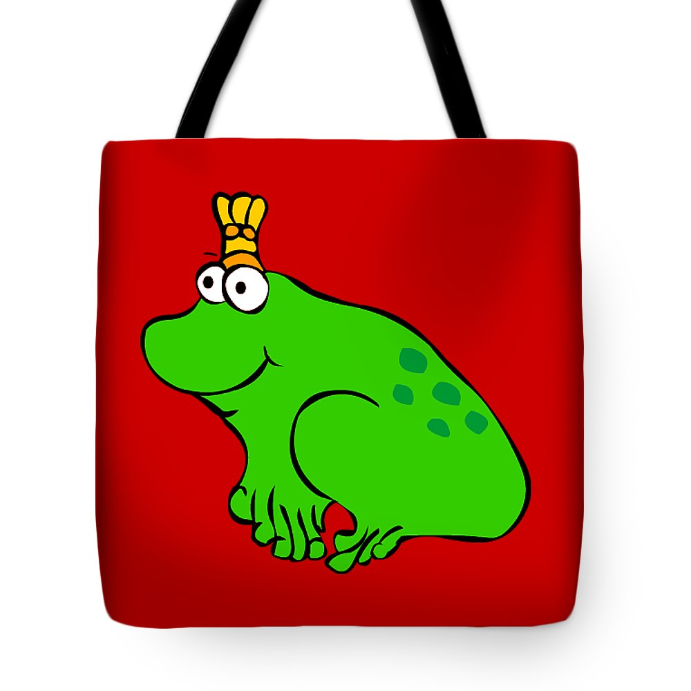 You Are My Princess! Tote Bag featuring the digital art Frog by Monica Moscovich