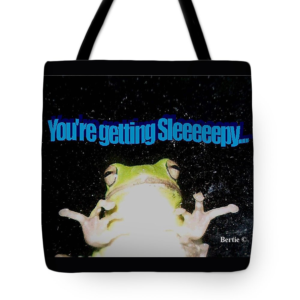 Photography Tote Bag featuring the photograph Frog You're Getting Sleeeeeeepy by Bertie Edwards