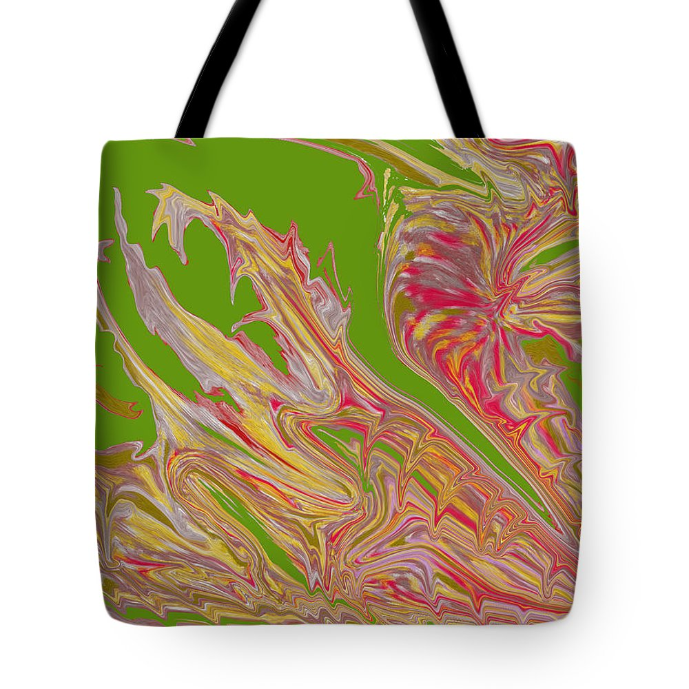 Abstract Tote Bag featuring the digital art From Above by Ian MacDonald