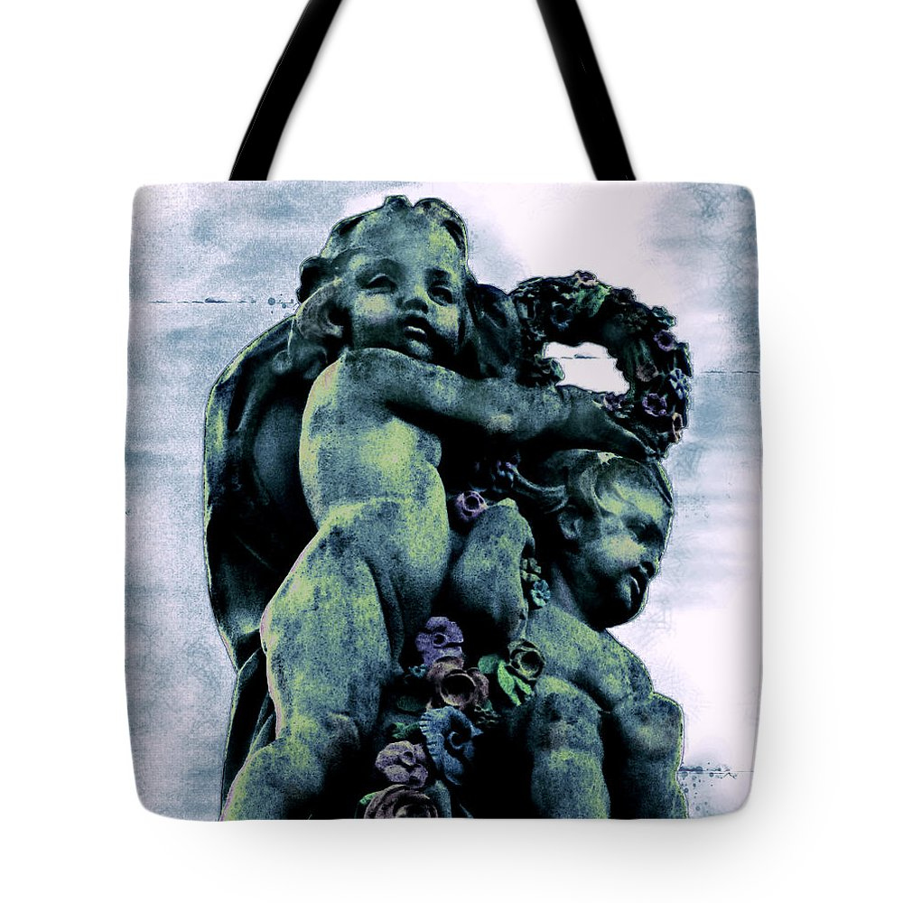 Cherubs Tote Bag featuring the photograph From Between The Cherubim by Colleen Kammerer