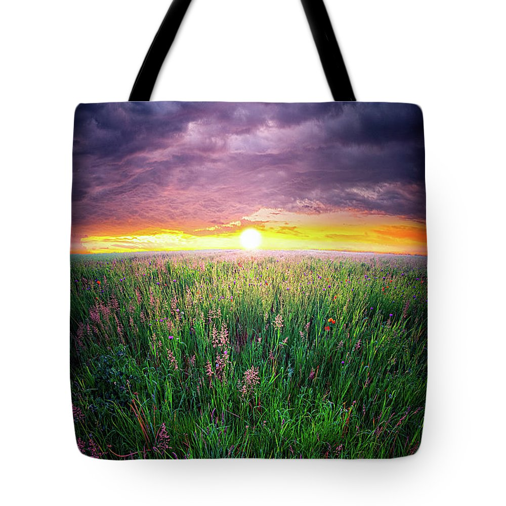 Landscape Tote Bag featuring the digital art From Dream To Dream by John Noe
