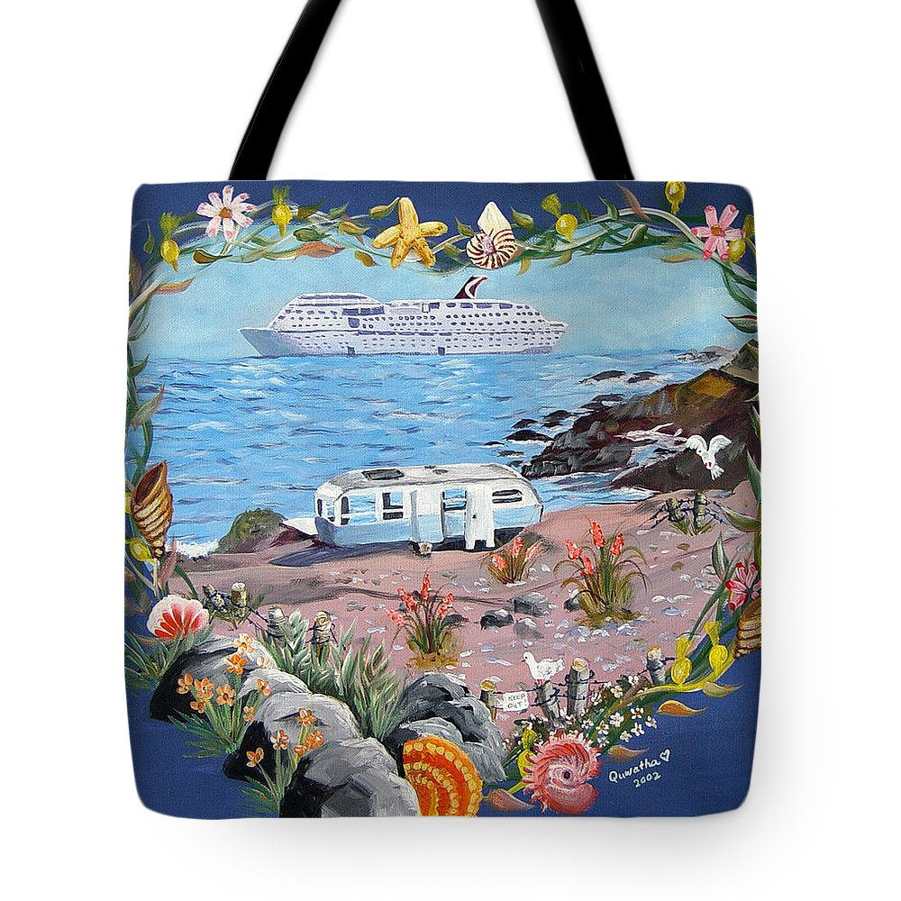 Ship Tote Bag featuring the painting From Rags To Riches by Quwatha Valentine