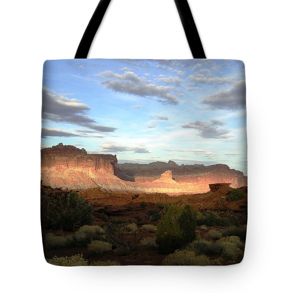 Capitol Reef Np Tote Bag featuring the photograph From Sunset Point 1 by Rich Bodane