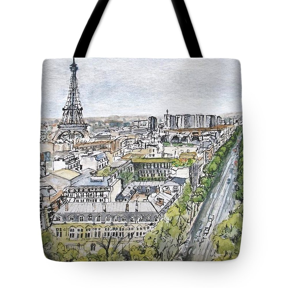 Sky Tote Bag featuring the painting From The Arc by Lisa Cini