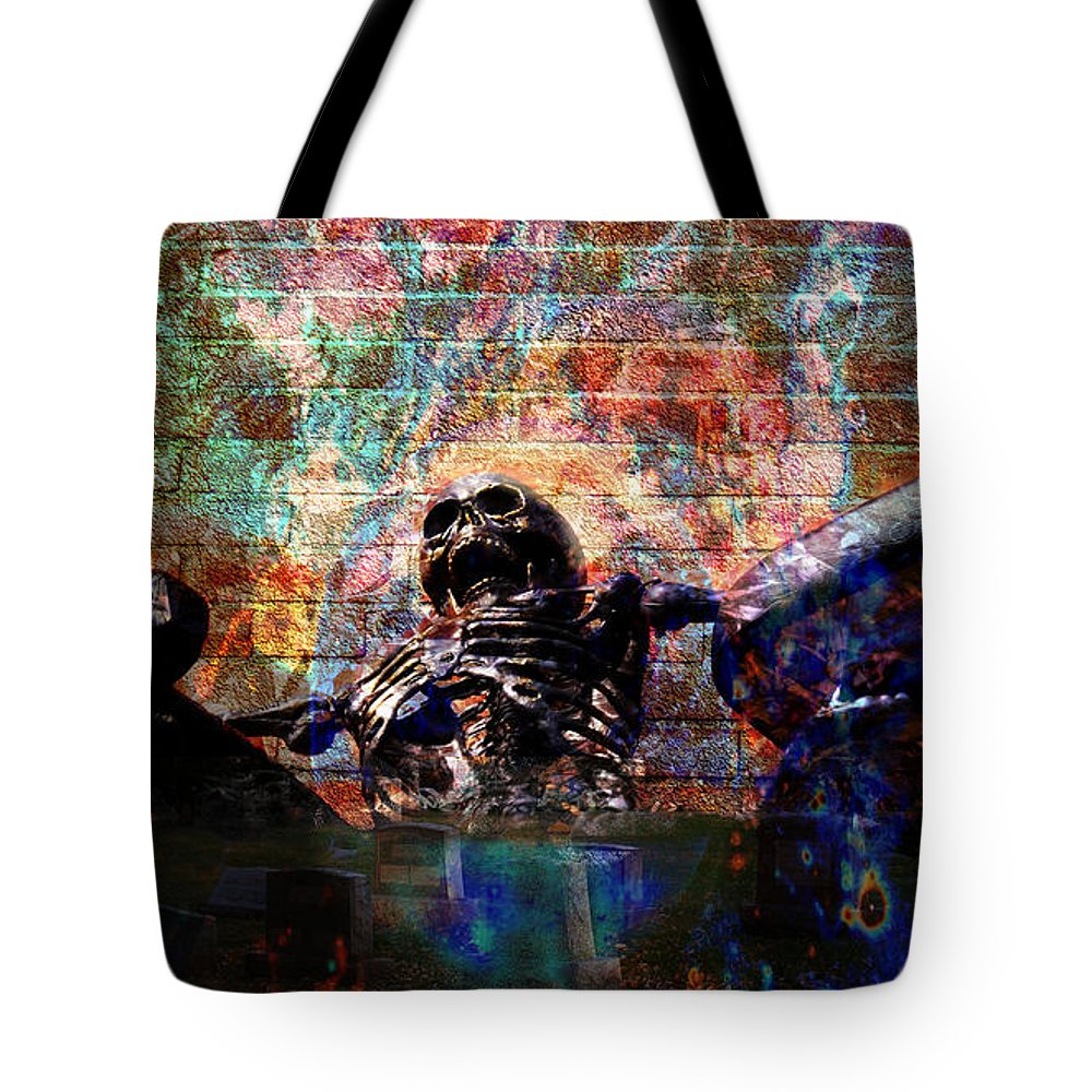 Skeleton Tote Bag featuring the photograph From The Grave by Bob Welch