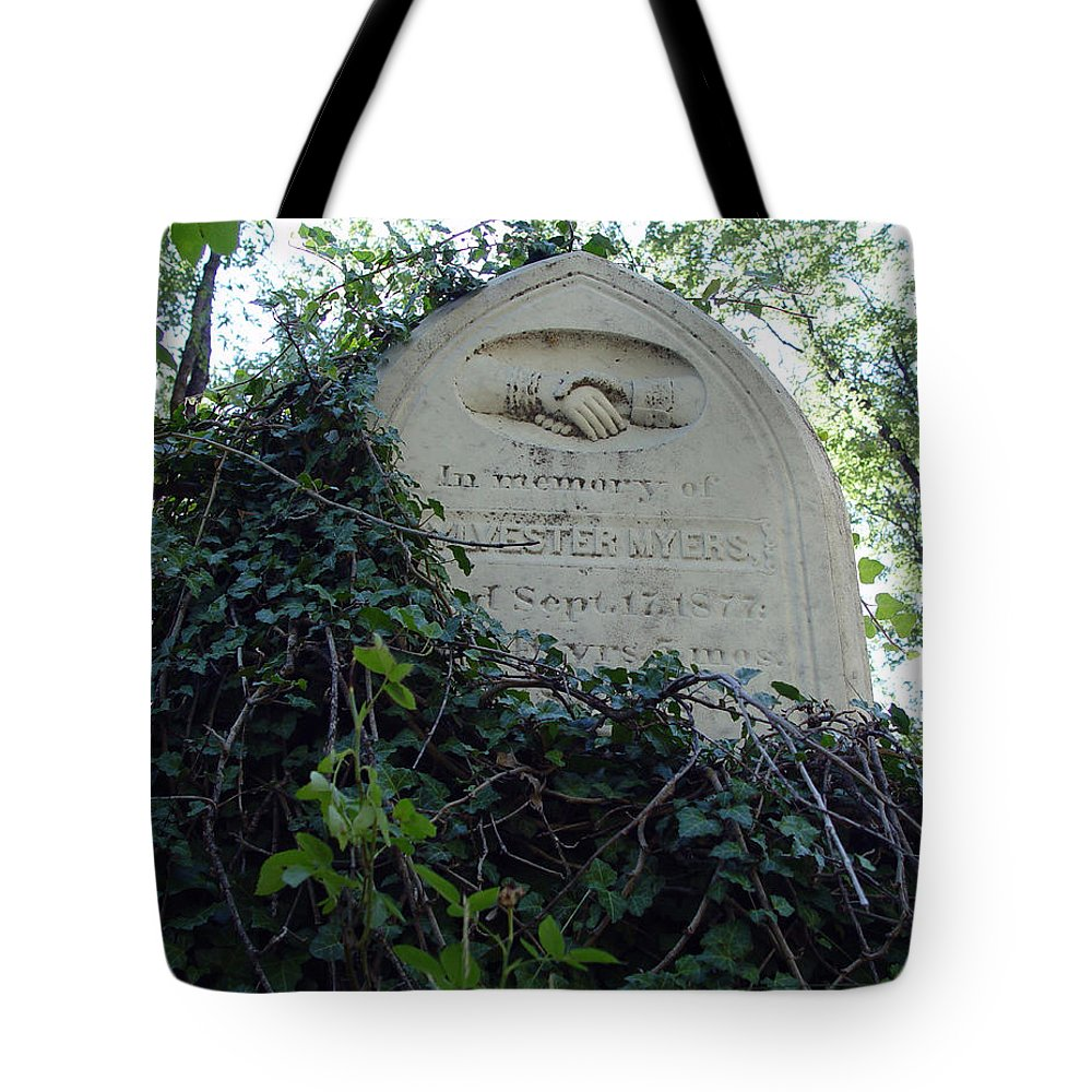 From The Grave Tote Bag featuring the photograph From The Grave No3 by Peter Piatt