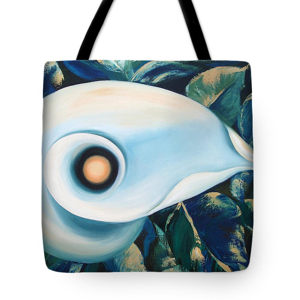 Flowers Tote Bag featuring the painting From The Heart Of A Flower by Gina De Gorna