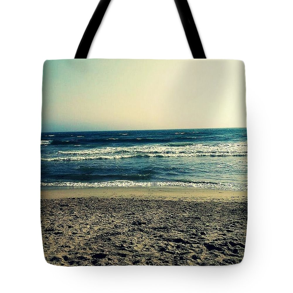 Huntington Beach Tote Bag featuring the photograph From The Huntington Beach Series by Missy Brage