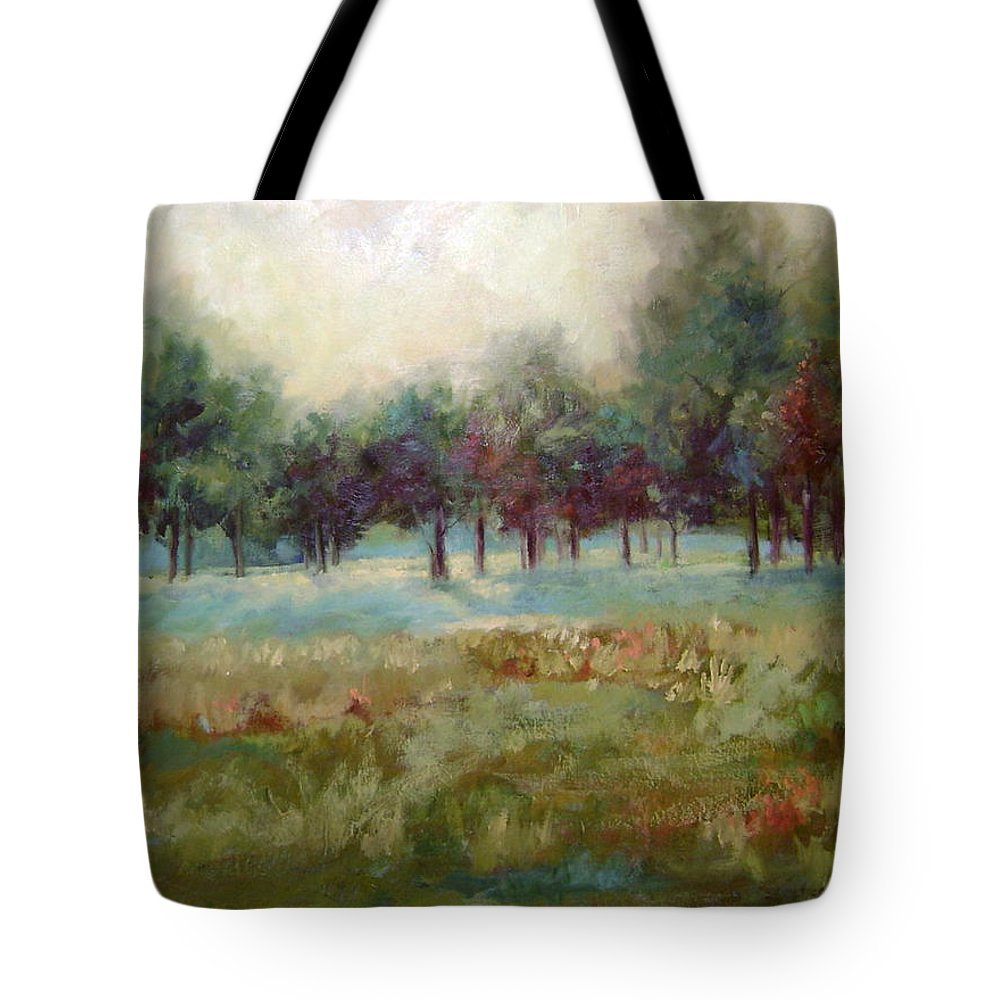 Country Scenes Tote Bag featuring the painting From The Other Side by Ginger Concepcion