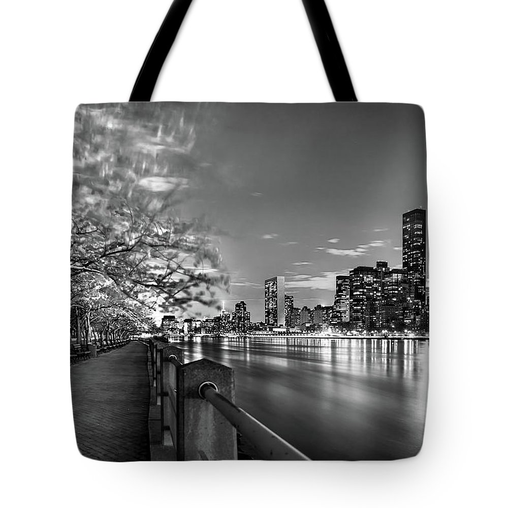 One World Trade Center Tote Bag featuring the photograph Front Row Roosevelt Island by Az Jackson