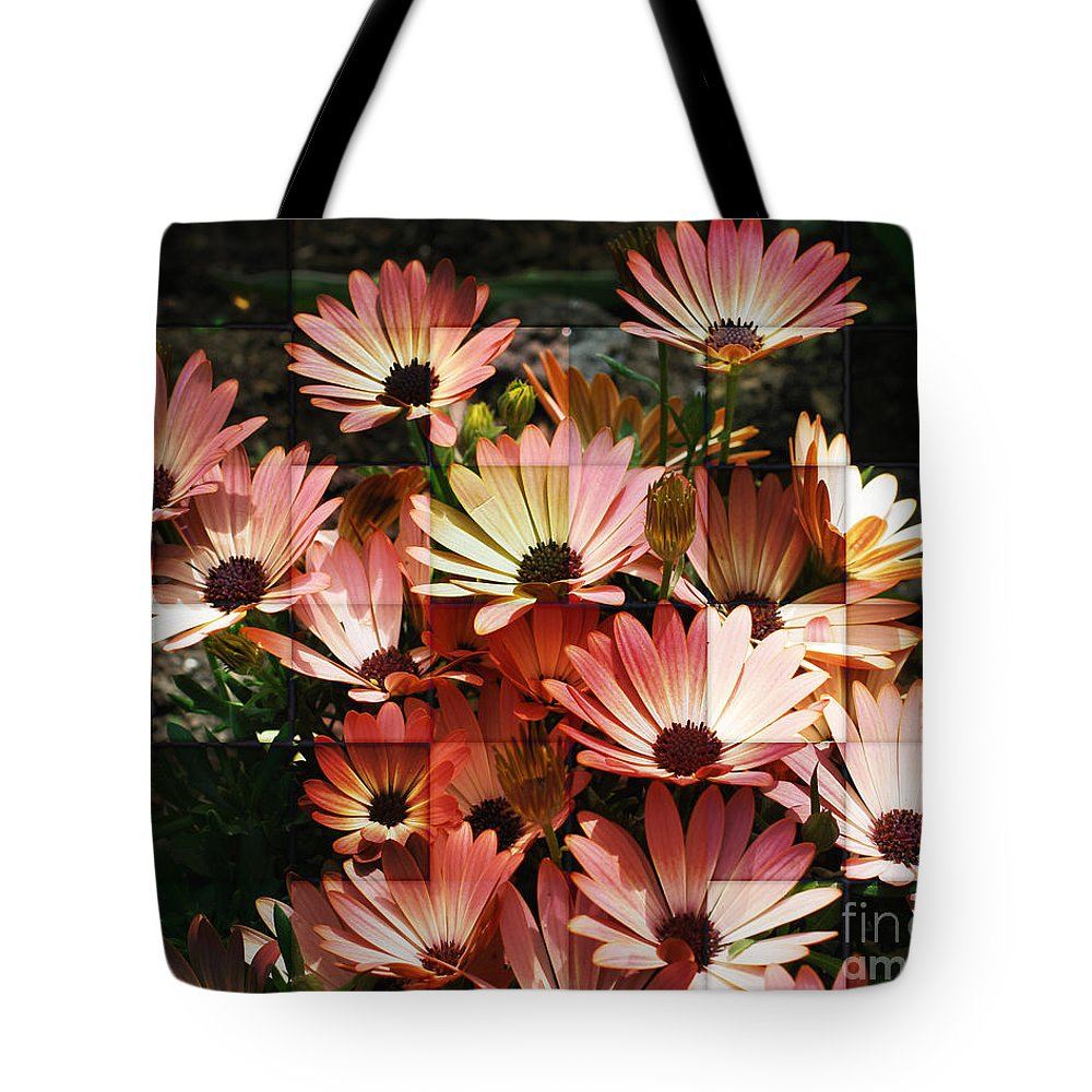 Flower Tote Bag featuring the photograph Frosted African Daisies by Smilin Eyes Treasures