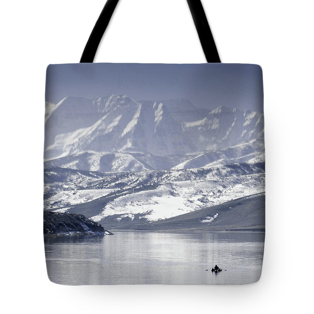 Mountains Tote Bag featuring the photograph Frosted Mountains by Scott Sawyer