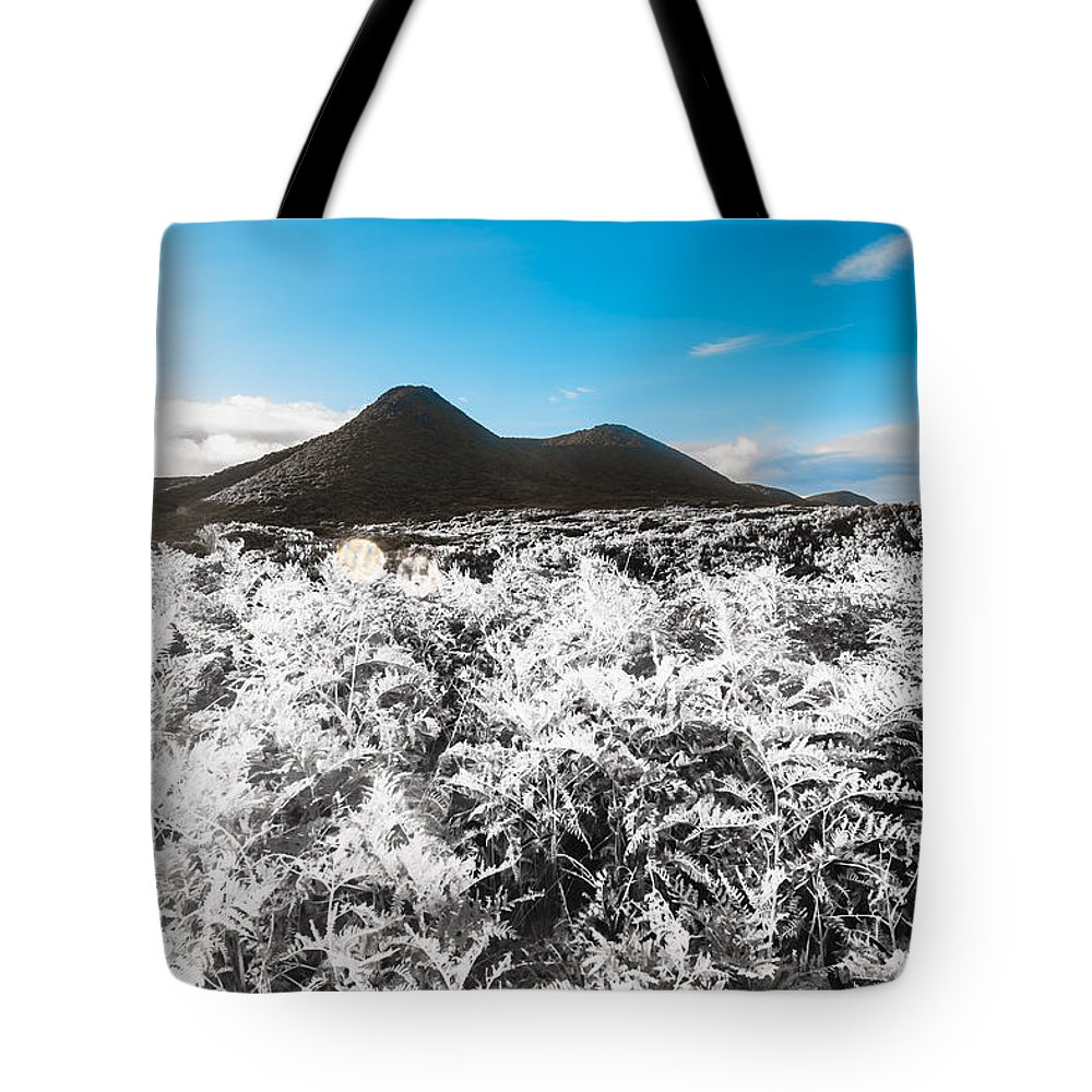 Highlands Tote Bag featuring the photograph Frosted Over Hinterland by Jorgo Photography - Wall Art Gallery