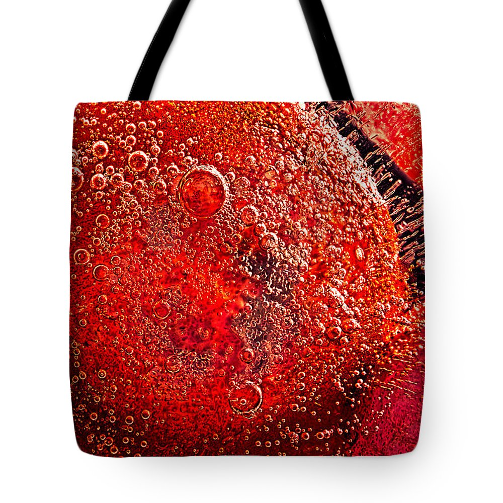 Abstract Tote Bag featuring the photograph Frozen Balls Four by Bob Orsillo