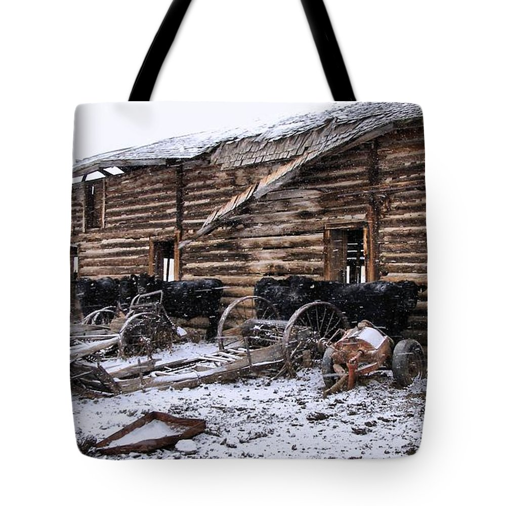 Cattle Tote Bag featuring the photograph Frozen Beef by Susan Kinney