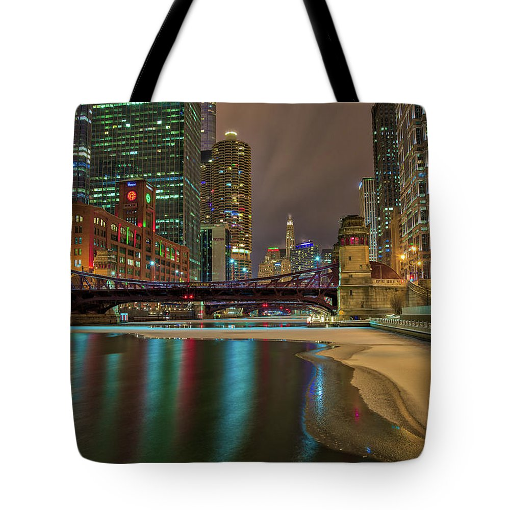 Chicago Tote Bag featuring the photograph Frozen IIi by Raf Winterpacht