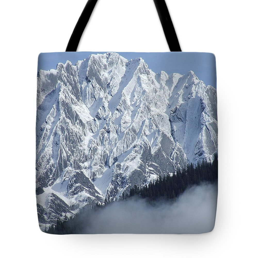 Rocky Tote Bag featuring the photograph Frozen In Time by Tiffany Vest