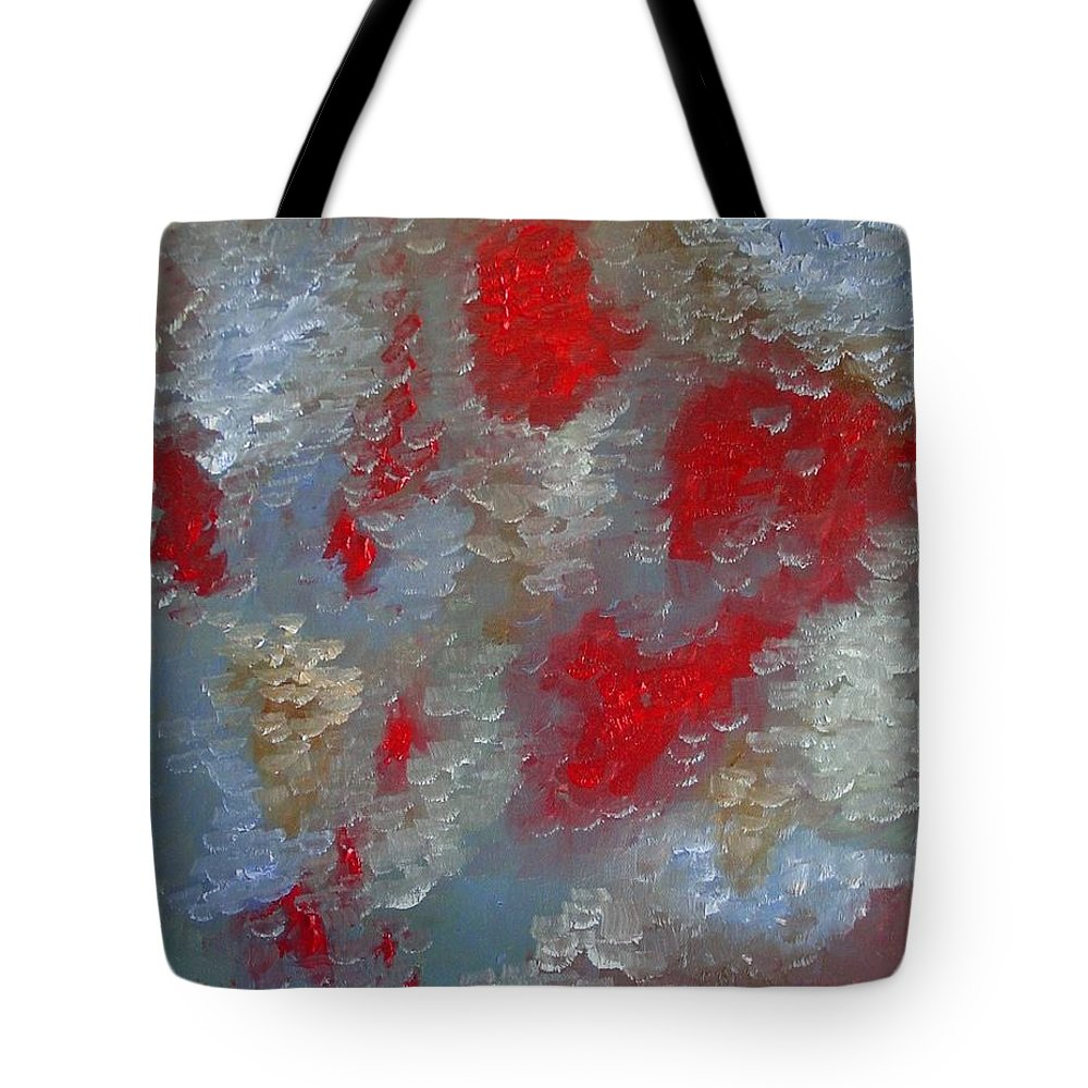 Abstract Tote Bag featuring the painting Frozen Street by Laurie Morgan