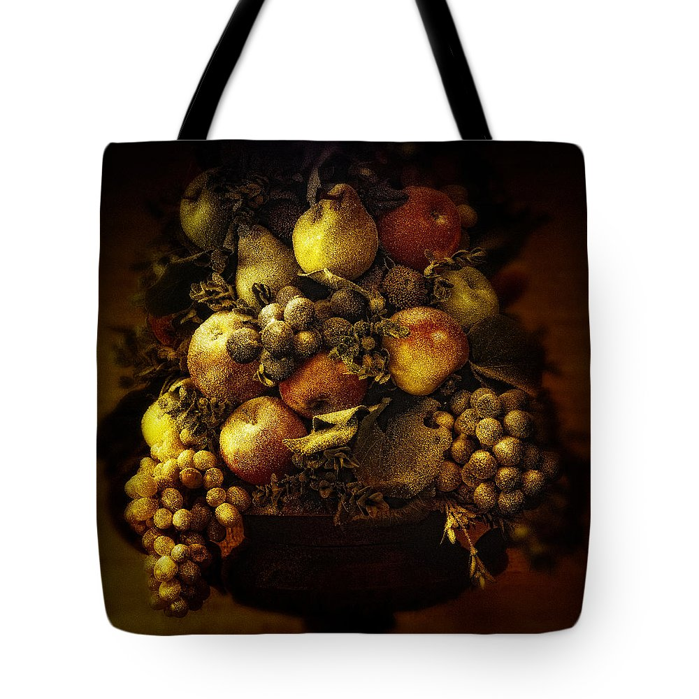 Apple Tote Bag featuring the photograph Fruit Basket by Bombaert Patrick