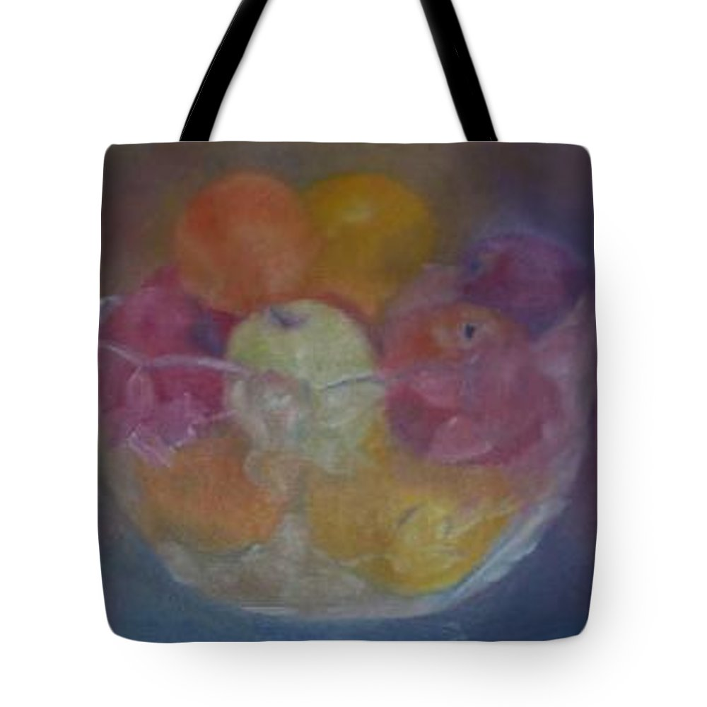 Still Life Tote Bag featuring the painting Fruit In Glass Bowl by Sheila Mashaw
