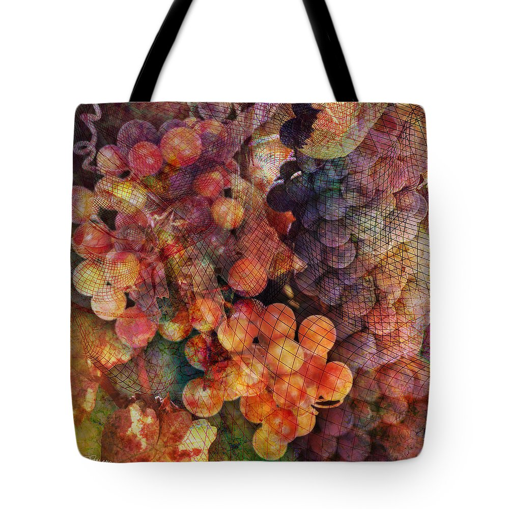 Grapes Tote Bag featuring the digital art Fruit Of The Vine by Barbara Berney