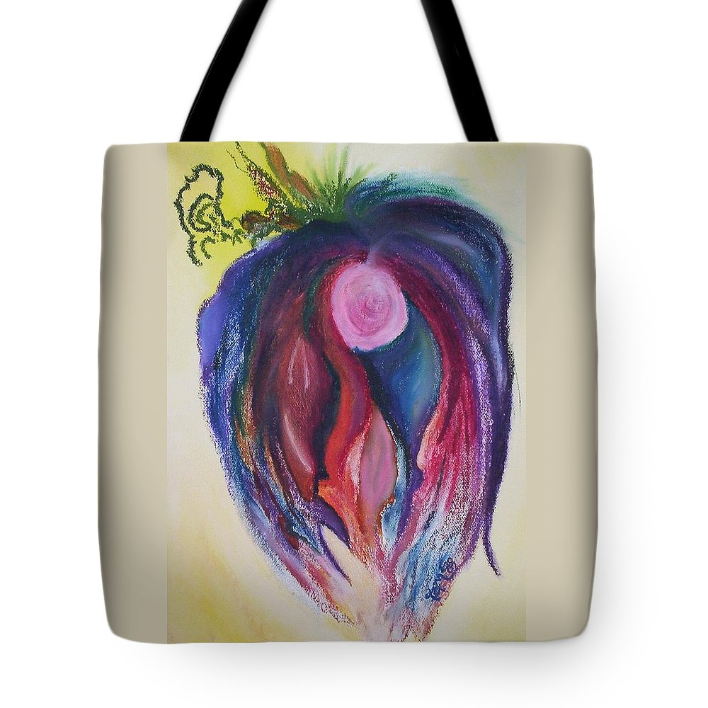 Abstract Tote Bag featuring the painting Fruit by Suzanne Udell Levinger