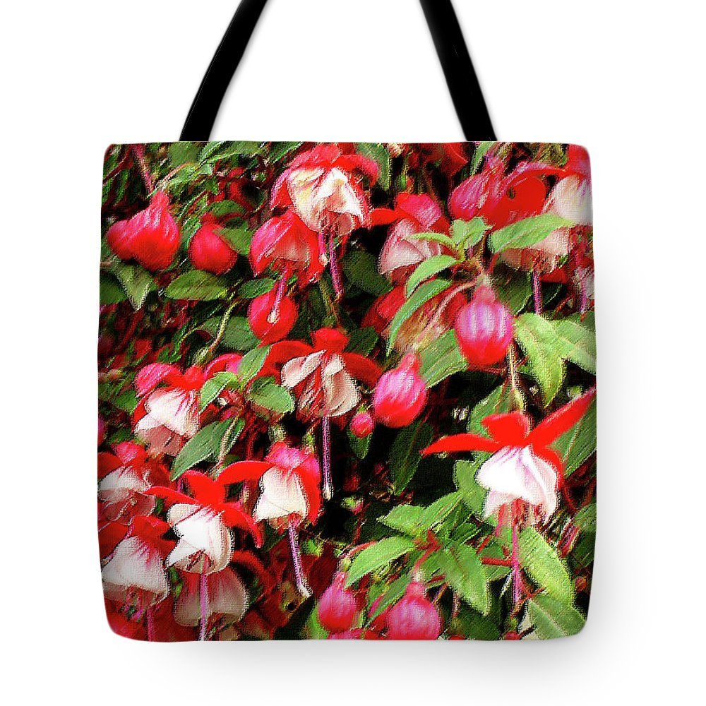 Group Tote Bag featuring the mixed media Fuchsia Pastel by Shirley Heyn