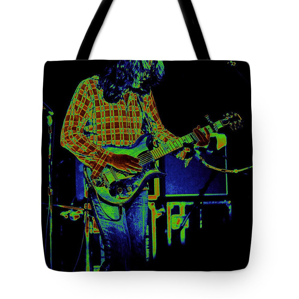 Rory Gallagher Tote Bag featuring the photograph Fuel To The Cosmic Fire by Ben Upham