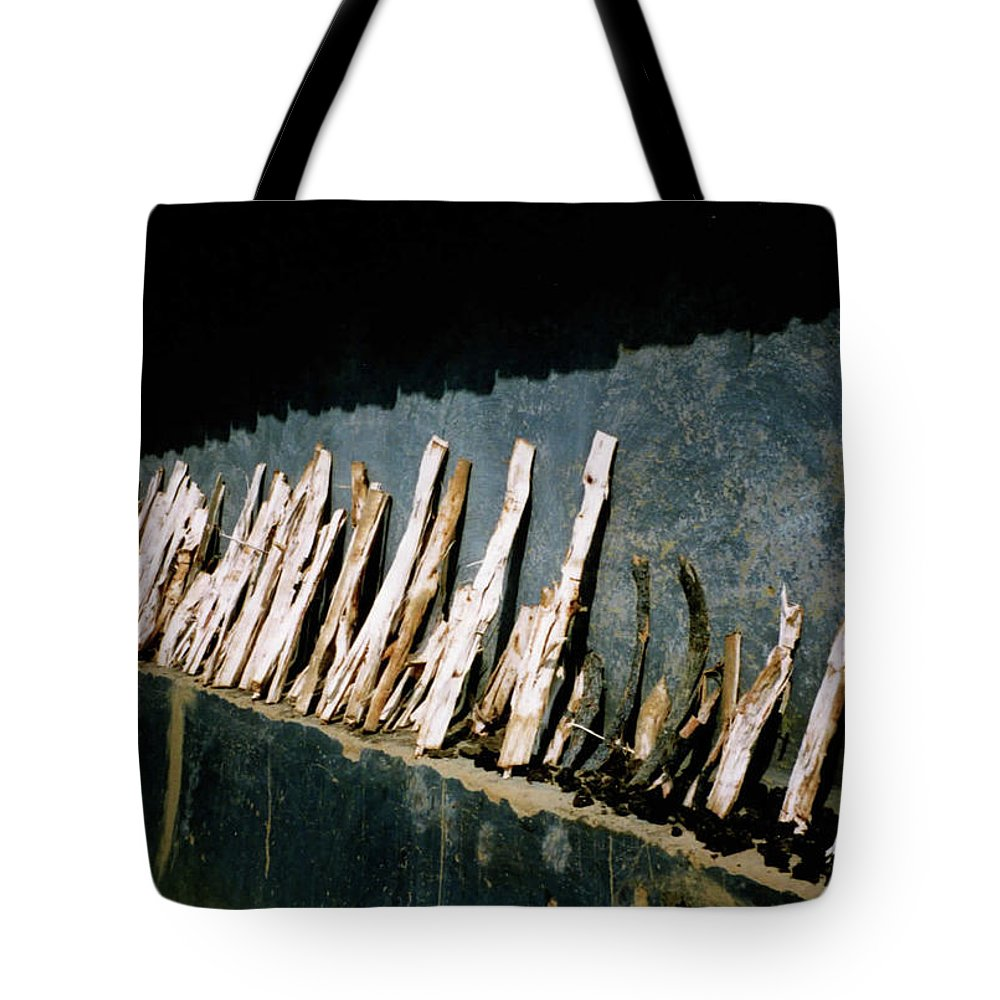 Woods Tote Bag featuring the photograph Fuel Wood by Ujjwal Rout